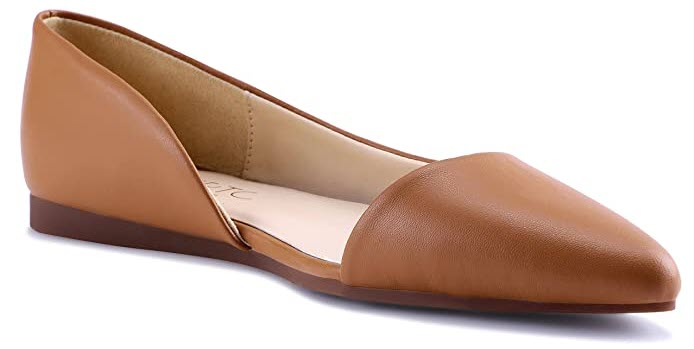 HSYZZY Women Flat Shoes Leather Slip On
