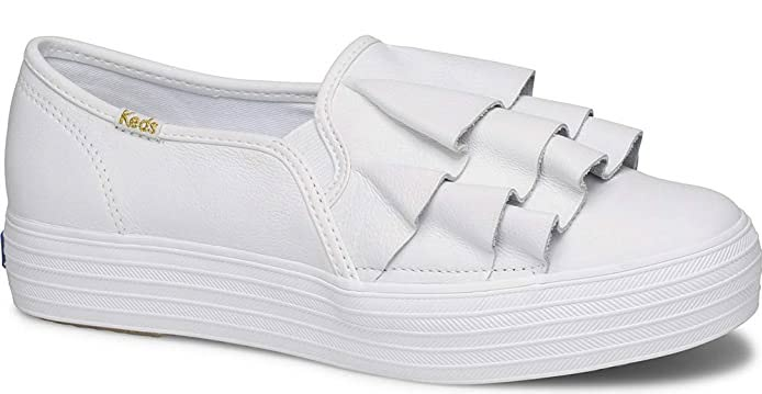 Keds Women's Triple Ruffle Leather Fashion