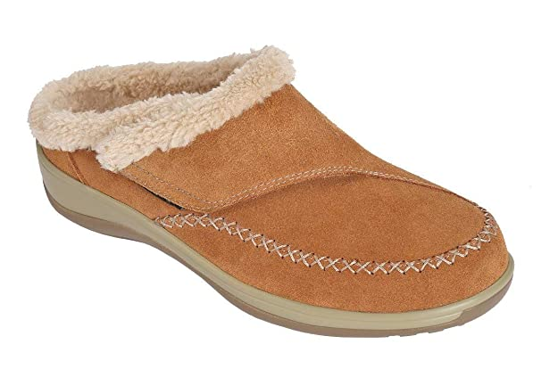 Orthopedic Leather Women's Slippers