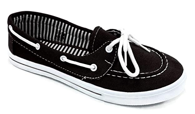 Women's Canvas Boat Shoe Sneaker