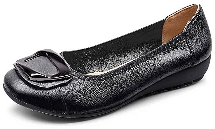 Women's Genuine Leather Comfort Ballet